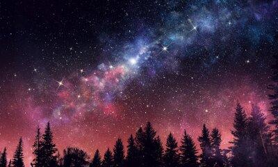 Papiers peints Stary clear night sky. Médias mélangés