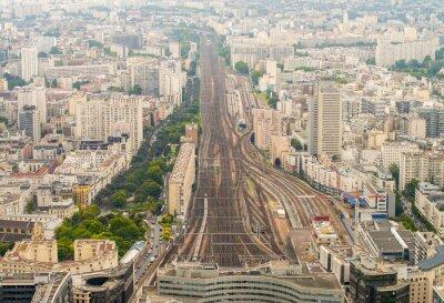 Papiers peints Station de train de Paris vu du point de vue élevé