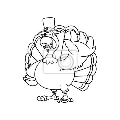 Papiers Peints Style De Dessin Anime De Turquie Pour Thanksgiving Ou Livre De