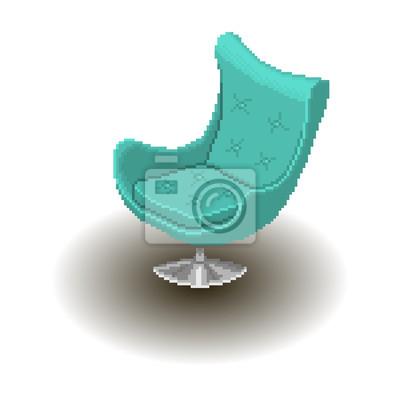 Style pixel bleu Fauteuil