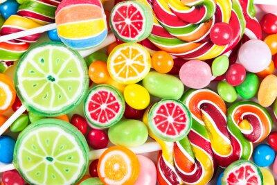 Papiers peints Sucettes et des bonbons colorés