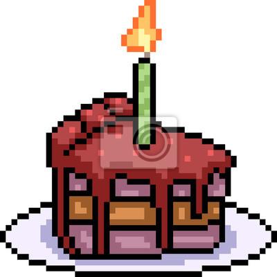 Papiers Peints Sucrerie De Gâteau Vecteur Pixel Art