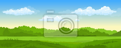 Papiers peints Summer landscape with fields and green hills