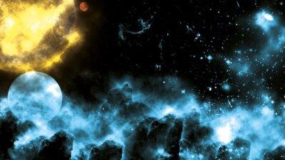 Papiers peints Sun / Galaxy Spacefog