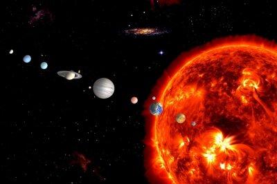 Papiers peints Sun System, les éléments sont fournis par la NASA
