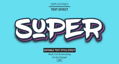 Papiers peints Super Grafitti Text Effect, Editable Text Effect