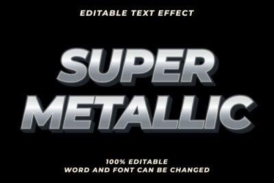 Papiers peints Super Metal text style effect Premium Vector
