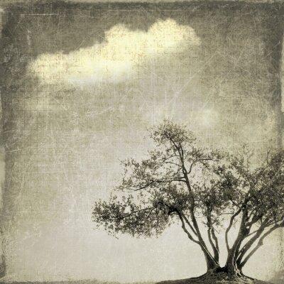 Papiers peints Surréaliste, paysage, unique, arbre, sépia ...