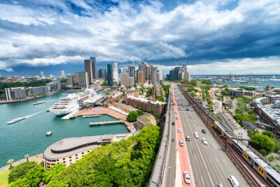 Papiers peints SYDNEY - 7 NOVEMBRE 2015: Vue panoramique sur la ville. Sydney attire