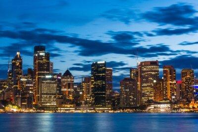 Papiers peints Sydney, centre, affaires, district, nuit