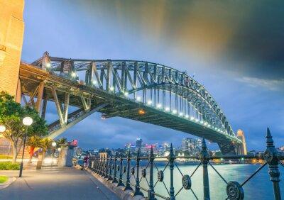 Papiers peints Sydney, Nouvelle-Galles du Sud. Incroyable coucher de soleil sur Harbour Bridge