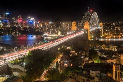 Papiers peints Sydney, port, pont, nuit