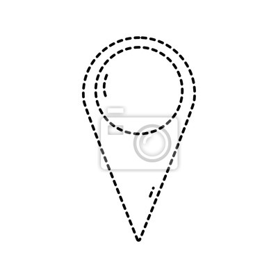 Papiers Peints Symbole De Lieu Destination En Pointill Pour Explorer La Carte