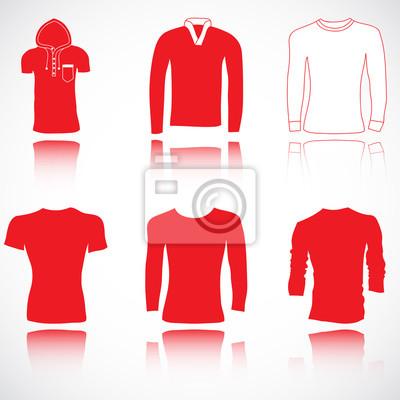 t-shirt, chandail et chandail ensemble, illustration vectorielle