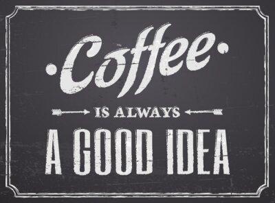 Tableau de conception de café