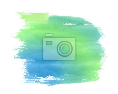 Tache Aquarelle Vert Bleu Papier Peint Papiers Peints Aquarelle