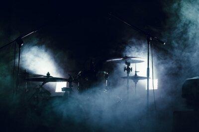 Papiers peints Tambour mis en fumée sur une scène