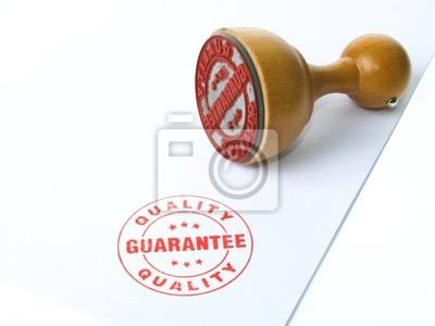 tampon en caoutchouc de garantie