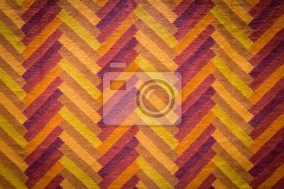 Tapis Orange Jaune Et Rouge Avec Motif Geometrique Fabrique Papier