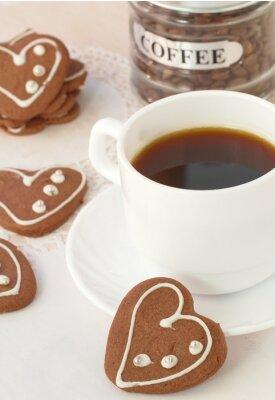 Papiers peints Tasse, café, chocolat, biscuits