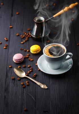 Papiers peints Tasse de café à grains et à céréales
