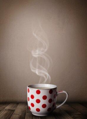 Papiers peints tasse de café avec la vapeur abstraite blanc