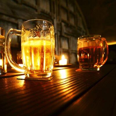 Papiers peints Tasses de bière