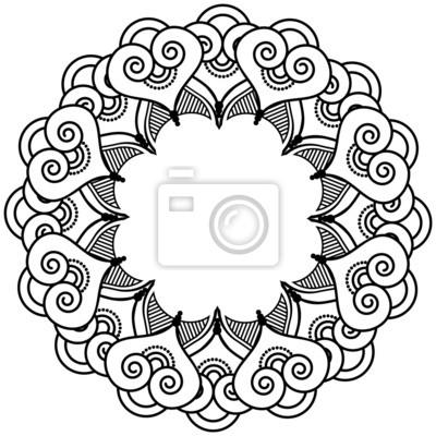 Tatouage au henné indien coeur inspiré couronne 2