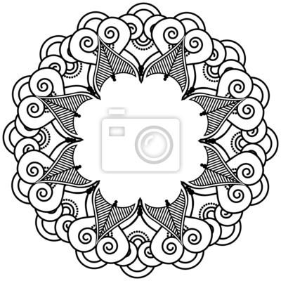 Tatouage au henné indien inspiré couronne de coeur