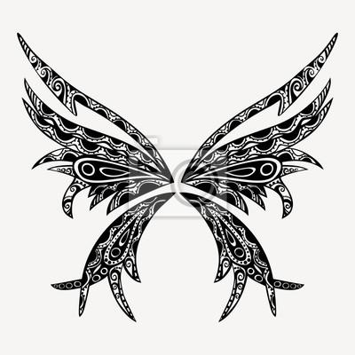 Tatouage Papillon Vecteur De Version Est Dans Mon Portefeuille