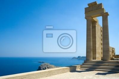 Temple d'Athéna Lindia à Lindos, Rhodes, Grèce