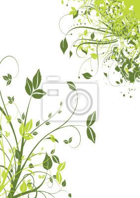 Terme Et Feuille Verte Papier Peint Papiers Peints Arabesque