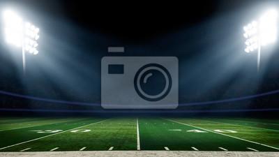 Papiers peints Terrain de football avec des lumières du stade