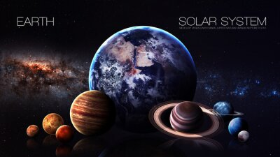 Papiers peints Terre - Résolution de 5K L'infographie présente l'une des planètes du système solaire. Cette image est fournie par la NASA
