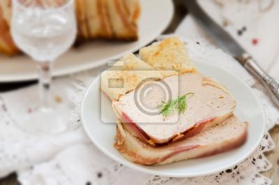 terrine de Turquie et de porc au bacon