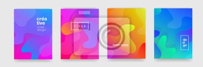 Papiers peints Texture d'arrière-plan abstraite dégradé fluide géométrique pour la conception de la couverture de l'affiche. Modèle de bannière de dégradé de couleur minimale. Forme d'onde vectorielle moderne pour b