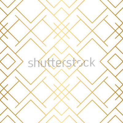 Papiers peints Texture Dorée. Motif géométrique sans soudure. Fond d'or. Modèle sans couture de vecteur. Fond géométrique avec losange et nœuds. Motif géométrique abstrait