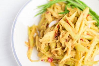 Thai food, spicy green mango salad (Tum Ma Muang)
