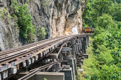 Papiers peints Thaï, train, rivière, kwai, pont, kanchanaburi, thaïlande