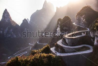 Papiers peints The winding road of Tianmen mountain national park, Hunan province, China