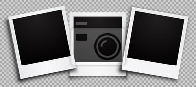 Papiers peints Three empty black photo frame with shadows - stock vector