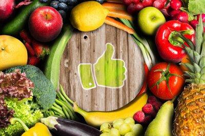 Papiers peints Thumbs up pour les fruits et légumes