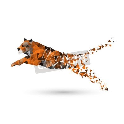 Papiers peints Tigre de polygones