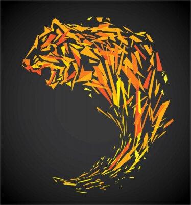 Papiers peints Tigre polygone
