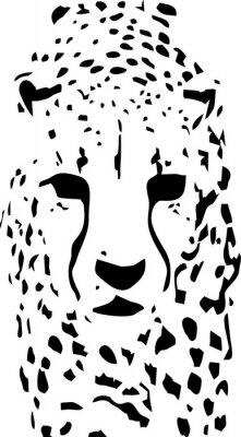 Papiers peints Tigre pop art noir et blanc