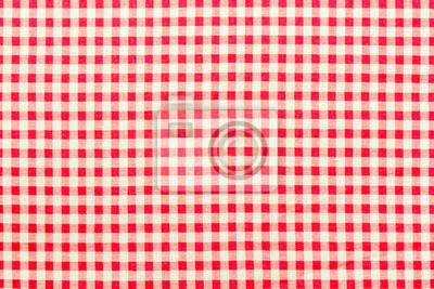 Papiers Peints Tissu Vichy à Petits Carreaux Rouges