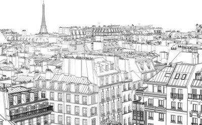 Papiers peints toits de Paris