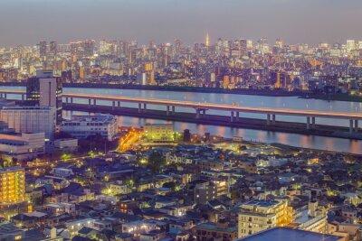 Papiers peints Tokyo, ville, vue, Tokyo, tour, crépuscule