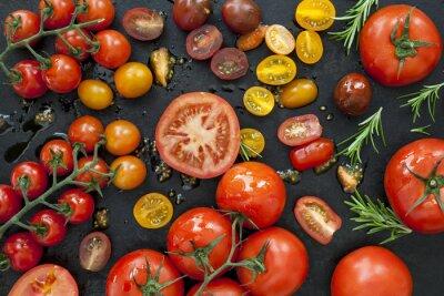 Papiers peints Tomate, variétés, noir, haut, vue