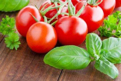 Papiers peints Tomates et basilic